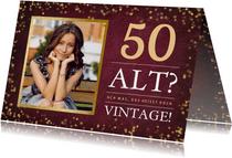 Geburtstagskarte Vintage 50 mit Foto