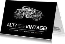 Geburtstagskarte Vintage Motorrad