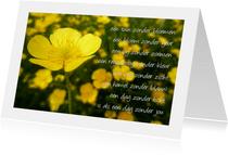 Gedicht boterbloem - dag zonder jou