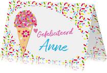 Gefeliciteerd ijsje naam aanpasbaar-ByF