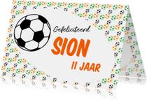 Gefeliciteerd voetbal naam aanpasbaar-ByF