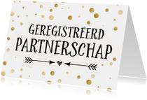 Geregistreerd partnerschap - confetti