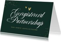 Geregistreerd partnerschap felicitatiekaart stijlvol