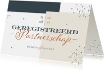 Geregistreerd partnerschap stijlvol modern grafisch