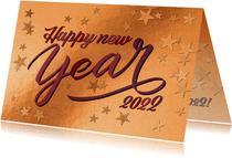 Geschäftliche Kupfer Neujahrskarte 'Happy New Year'