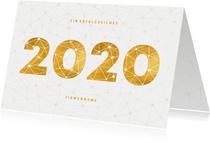 Geschäftliche Neujahrskarte 2020 Verbindungen