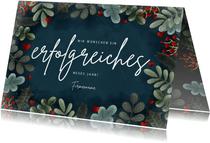 Geschäftliche Neujahrskarte botanisch