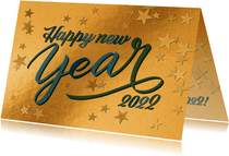 Geschäftliche Neujahrskarte 'Happy New Year'