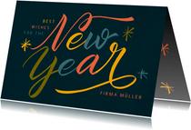 Geschäftliche Neujahrskarte mit modernem Lettering