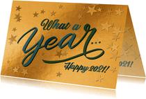 """Geschäftliche Neujahrskarte """"What A Year"""""""