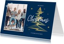 Geschäftliche Weihnachtskarte Foto grafischer Weihnachtsbaum