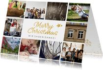 Geschäftliche Weihnachtskarte Fotocollage Merry Christmas