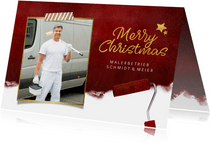 Geschäftliche Weihnachtskarte für Malerbetrieb