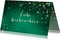 Geschäftliche Weihnachtskarte grün mit Sternen