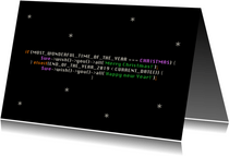 Geschäftliche Weihnachtskarte IT mit Quellcode