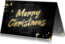 Geschäftliche Weihnachtskarte Merry Christmas gold
