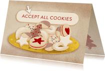 Geschäftliche Weihnachtskarte mit Cookies