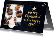 Geschäftliche Weihnachtskarte Sternenhimmel Foto & Logo