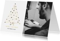 Geschäftliche Weihnachtskarte Verbindungen mit Foto
