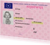 Geslaagd kaart echt rijbewijs