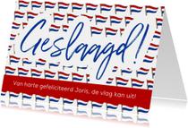Geslaagd - vlag met ruimte voor naam