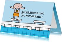 Geslaagd Zwemdiploma Jongen