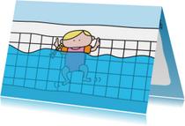 Geslaagd Zwemdiploma Meisje