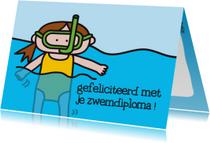 Geslaagd Zwemdiploma Snorkel