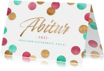 Glückwunschkarte Abitur 2021 Konfetti