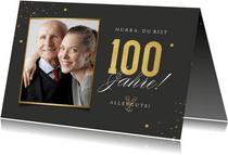 Glückwunschkarte Geburtstag 100 Jahre mit Foto