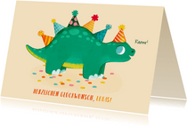 Glückwunschkarte Geburtstag Kind Dinosaurier