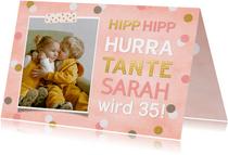 Glückwunschkarte Geburtstag rosa Konfetti
