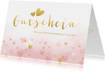 Glückwunschkarte Gutschein Geburtstagsbussi