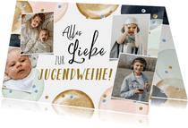 Glückwunschkarte Jugendweihe Fotocollage