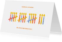 Glückwunschkarte mit 18 Kerzen