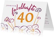 Glückwunschkarte mit Blüten