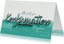 Glückwunschkarte mit Handlettering zur Konfirmation