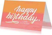 """Glückwunschkarte mit Lettering """"Happy Birthday"""""""
