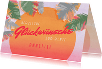 Glückwunschkarte Rente tropisch