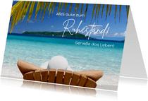 Glückwunschkarte Ruhestand Strand