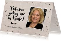 Glückwunschkarte Ruhestand 'Träume gehen nie in Rente'