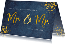 Glückwunschkarte Schwulenhochzeit Mr. & Mr.
