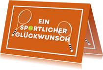 Glückwunschkarte Tennis