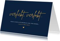 Glückwunschkarte Verlobung 'verliebt, verlobt...'