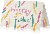 Glückwunschkarte zum Geburtstag Konfettistreifen