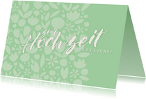 Glückwunschkarte zur Hochzeit Papercut