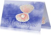 Glückwunschkarte zur Perlenhochzeit Muschel