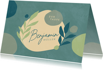 Glückwunschkarte zur Taufe Boho Floral