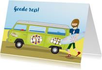 Vakantiekaarten - Goede reis surfdude