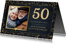 Goldene Hochzeit Glückwunschkarte 50 mit Foto